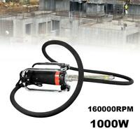 1000W Electric Power Concrete Vibrator 14-3/4 Ft Poker Air Bubbles Level Remover