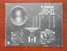 Canon A-1 Instruction Book/175801