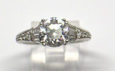 STERLING SILVER RING WITH LARGE CUBIC ZIRCONIA SIZE 9 #DW #R37