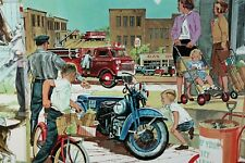New listing * 6 Vintage 1961 Science Is Wondering Educational Posters Servicycle Gas Oil *