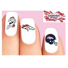 Waterslide Nail Decals Set of 20 - Denver Broncos Football Assorted