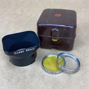 Kodak Retina 50mm Lens Hood Shade W/ 2 Filters FVII/32, F II/32