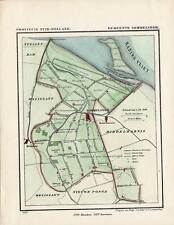 Antique Map-NETHERLANDS-TOWN PLAN-SOMMELSDIJK-ZUID HOLLAND-Kuyper-Kuijper-1865
