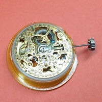 GENTS AUTOMATIC MECHANICAL SKELETON WATCH MOVEMENT - ROTARY - N.O.S - GOLD