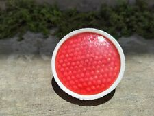 Vintage WHITE RED REFLECTOR PLASTIC For Vintage Bicycle NOS