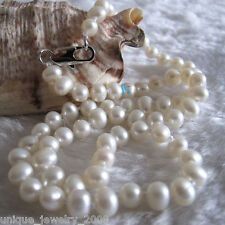 """16"""" 5-6mm White AA Freshwater Pearl Necklace Child Jewelry L"""