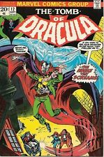 The Tomb of Dracula Comic Book #12 Second Blade, Marvel 1973 VERY FINE+