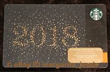 """STARBUCKS CANADA SERIES GIFT CARD """"GLITTER 2018"""" NEW YEAR NO VALUE HOLIDAY 2017"""