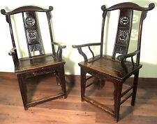 Antique Chinese High Back Chairs (Pair) (5936), Circa 1800-1849