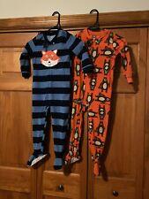 Boys Carters Footed Pajamas 2 Pr. Fox & Bears Size 4T