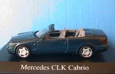 MERCEDES BENZ CLK KLASSE 230 CABRIOLET SCHUCO 1/43 DARK GREEN METAL 1:43 GRUN