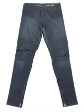 Rockstar Sushi Women's Moto Biker Jeans Jeggings Skinny Dark Blue • Large