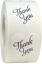 500 Thank You Stickers Mini DIY Craft Heart-Shaped Gift Lables Wedding