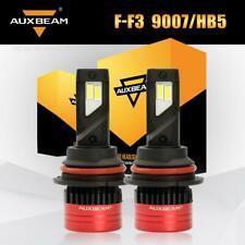 AUXBEAM 9007 HB5 LED Headlight Bulbs 80W 8000LM High Low Beam White 6500K Bright