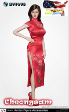 "1/6 Chinese Cheongsam RED Dress Clothes for 12"" Female Figure PHICEN ❶USA❶"