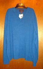 Cashmere V Neck Sweater Mens 100% Cashmere S NWT $225