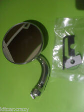 "CLASSIC CAR 3"" ROUND STAINLESS OVERTAKING QUARTER LIGHT DOOR MIRROR CLAMP ON"