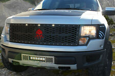 Custom Steel Aftermarket Grille 2010-2014 Ford F150 Raptor F-150 Red SPARTAN