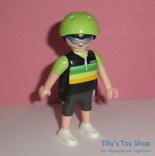 Playmobil figura hombre con casco & Gafas De Sol Deportivas para conjuntos de CityLife-Nuevo