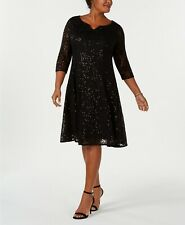 SLNY Fashions Sequined Lace Dress Size 6