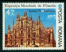 1976 Milan Cathedral Church/Dome,Milano,Italy,Architecture,Romania,3381,CTO+MNH