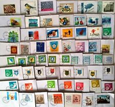 ESTONIA : 60  DIFFERENT STAMPS 1993-2020 ON LETTERS .
