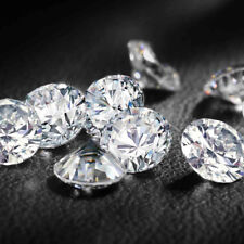 Fiery 7 MM 1.10 Carat Full White Round Brilliant Cut Loose Moissanite for Ring