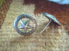 """25 Texas Star Upholstery Tacks 3/4"""" Antique Silver"""