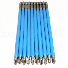 10pcs Magnetic Phillips S2 PH2 Antislip Impact Screwdriver Drill Bits Set 150mm