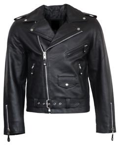 *NEU* BRANDO von RICANO, Herren Echt Biker Leder Jacke, S - XXXL, schwarz