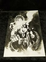 Hellboy Original Art/ Watercolor by Richard Friend FREE SHIPPING