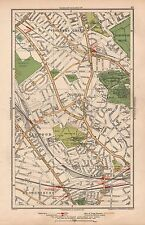 1933 LONDON MAP-GOLDERS GREEN,CHILD'S HILL,FORTUNE GREEN,CRICKLEWOOD,WEST HAMPST