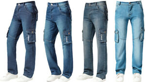 Mens Designer Straight Fit Regular Leg Denim Jeans All Big King Waist Sizes