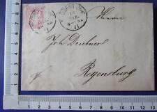 Bayern  3 Kreuzer Brief + Inhalt Rechnung Nürnberg Bahf / Regensburg 1871