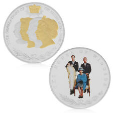 Four Generations British Royal Family Commemorative Collection Collectible Coins