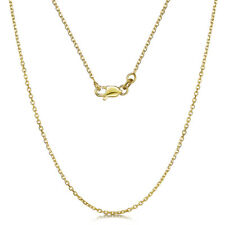 9ct Oro Amarillo Talla Diamante Cable 4 Lado Cadena Collar 18'' PULGADAS