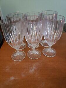 """Lot of 6 Mikasa Crystal Park Lane 7 1/4"""" Iced Tea Glasses"""