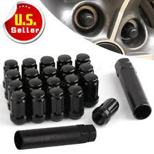 20 Black Lug Nuts 1/2-20 Bulge Acorn for Jeep Wrangler JK TJ YJ CJ KJ ZJ MJ XJ