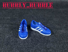 "1/6 Shoes Adidas Style Men Sneakers Blue For 12"" Hot Toys Figure SHIP FROM USA"