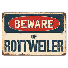 Beware Of Rottweiler Rustic Sign SignMission Classic Rust Wall Plaque Decoration