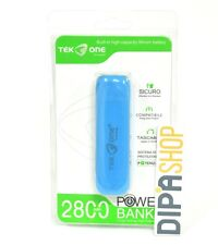 Batteria Esterna Power Bank Portatile TekOne 2800mah Smartphone Tablet Blu hsb