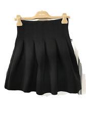 T By Alexander Wang Neoprene High Waisted Mini Skirt XS Uk6 8 Black