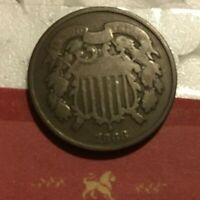 1868 Well Circulated Two Cents