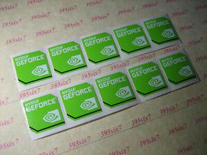 NVIDIA GEFORCE GREEN STICKER ( 20mm x 20mm ) x 10 PCS