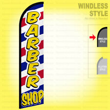 Barber Shop Windless Swooper Flag 25x115 Ft Tall Feather Banner Sign Wf338