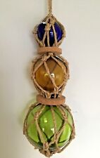 Decorative Ornamental Triple Glass Buoy Float Seaside Nautical