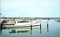 Crisfield Maryland Postcard 1950s Crab Boats & Docks Somerset Chrome KX