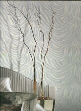 RC15032 Roberto Cavalli Cream & Grey Zebra Striped Wallpaper