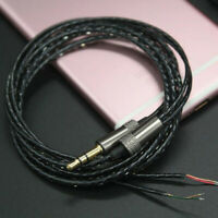 3.5mm Jack DIY earphone headphone audio cable repair replacement cord wire HF