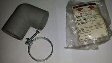 Toyostove Heater Rubber Intake Elbow 20474976, 20474975 Laser 56, 73, 55, 72